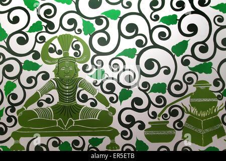Ayurvedische Behandlung Malerei - Stockfoto