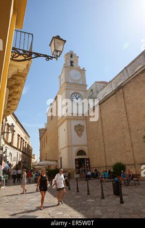 Kathedrale Agata in der historischen Zentrum von Gallipoli, Provinz Lecce, Apulien, Golf von Tarent, Italien, Europa - Stockfoto