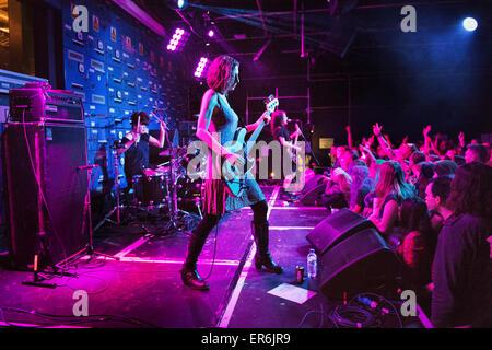 Manchester, UK. 27. Mai 2015. Alle weiblichen US-Alternative-Rock-Band Babes in Toyland Konzert im Gorilla, Manchester. - Stockfoto