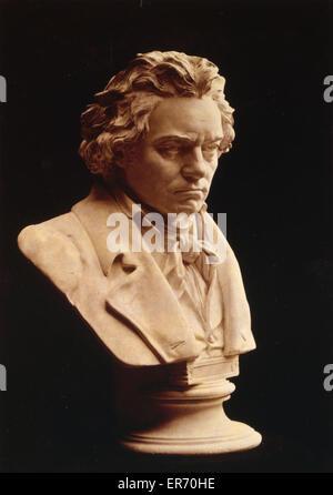 Ludwig van Beethoven - die Totenmaske d.h. Leben Maske studierte. Foto der Büste Statue von Hugo Hagen, basierend - Stockfoto