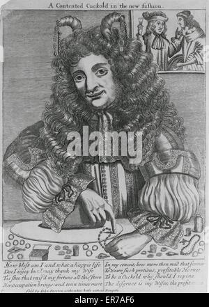 Porträt eines Cuckold zählen seinen Reichtum in Form von