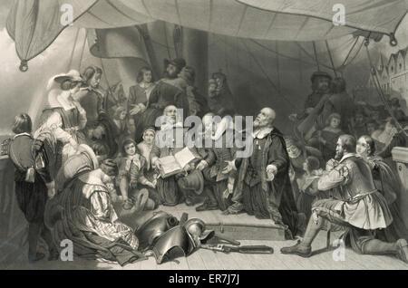 Die Einschiffung der Pilger. - Stockfoto