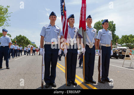 Civil Air Patrol - US Air Force Auxiliary Color Guards auf ein outdoor-Event - USA - Stockfoto