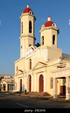 Kathedrale Catedral De La Purisima Concepción, Parque José Marti, Provinz Cienfuegos, Kuba - Stockfoto