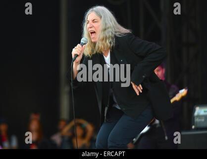 Punk-Ikone Patti Smith Tritt Auf Dem Primavera Sound Festival 2015 Uhr 29.05.2015 Im Parc del Forum in Barcelona - Stockfoto