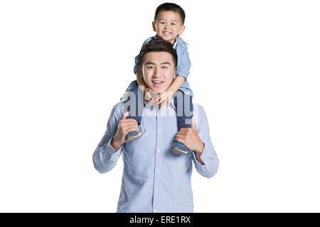 Glücklicher Vater und Sohn - Stockfoto