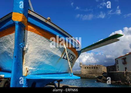 Alte Stadt Fischerhafen. Puerto De La Cruz. Teneriffa. Kanarischen Inseln. Spanien - Stockfoto