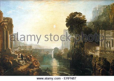"""""""Dido Gebäude Carthage"""" oder """"The Rise des karthagischen Reiches"""" - Gemälde von Joseph Mallord William Turner, 1815. - Stockfoto"""