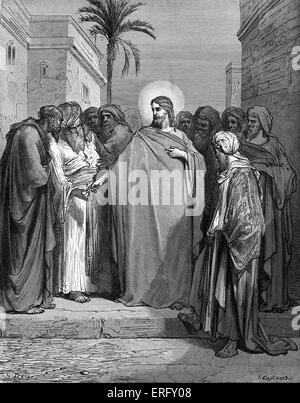 """Christus und die Tribute-Geld. Jesus wird gefragt, ob es stimmt, Caesar und Antworten zu würdigen """"Rendern zu Caesar - Stockfoto"""