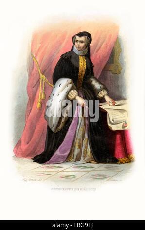 Catherine de Médicis (oder Caterina de' Medici). Italienisch-geboren Queen Consort von Frankreich als die Frau von - Stockfoto