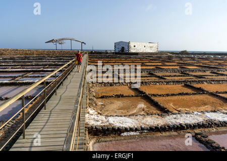 Kochsalzlösung in Caleta de Fuste, Fuerteventura Spanien - Stockfoto