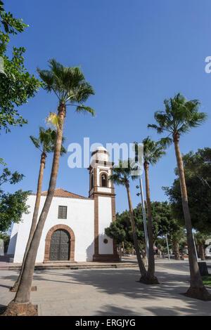 Der Kirche Iglesia de Nuestra Seòora De La Antigua, 18. Jahrhundert, Fuerteventura, Spanien - Stockfoto