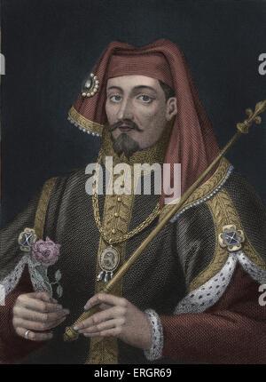 Henry IV, Portrait. König von England und Lord von Irland 1399 – 1413. 15 April 1367 – 20. März 1413. - Stockfoto