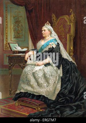 Königin Victoria von England - Porträt ihrer Majestät im Jahre 1887. 24. Mai 1819 – 22. Januar 1901. - Stockfoto