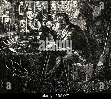 """Tom Brown Schulzeit, von Thomas Hughes, erstmals veröffentlicht im Jahr 1857. Bildunterschrift lautet: """"Alte Thomas - Stockfoto"""