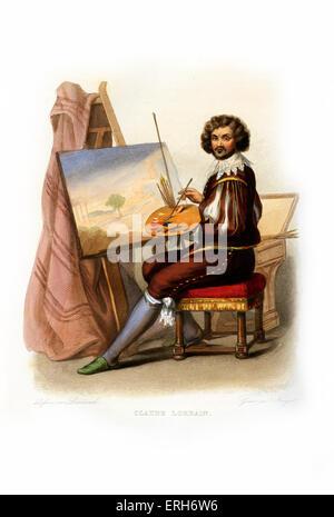Claude Lorrain (Claude Gellée mit seinem richtigen Namen). Französischen Barock-Künstler, spezialisiert in der Landschaftsmalerei; - Stockfoto