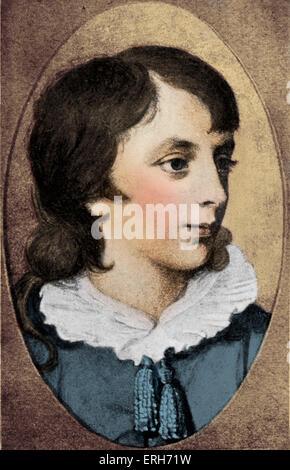 Percy Bysshe Shelley - Porträt als Heranwachsender. Englisch Dichter, 4. August 1792 – 8. Juli 1822 - Stockfoto