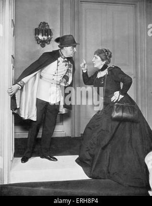 Reunion in Wien - spielen von Robert E. Sherwood. Alfred Lunt als Rudolf Maximillian von Hapsburg und Lynn Fontanne - Stockfoto