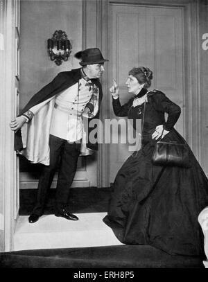 Reunion in Wien - spielen von Robert E. Sherwood. Alfred Lunt als Rudolf Maximillian von Hapsburg.  Produziert am - Stockfoto