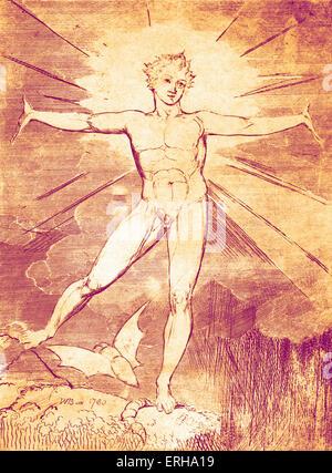 Froh, dass Tag von William Blake, 1780. Möglicherweise eine Illustration von Shakespeares Linien, Romeo und Juliet - Stockfoto