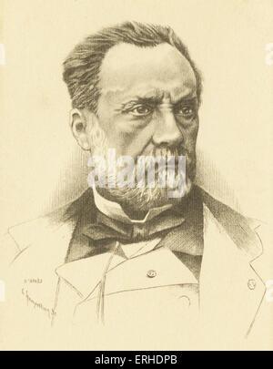 Louis Pasteur, Porträt, französischer Wissenschaftler 1822-1895, Erfinder des Verfahrens der Pasteurisierung und - Stockfoto