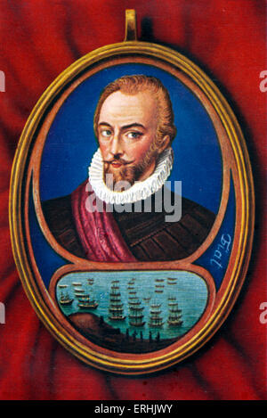 Sir Walter Raleigh. Porträt des englischen Soldaten, Explorer, Höfling und Autor. 1552-1618. Elizabeth ich Verbindung - Stockfoto