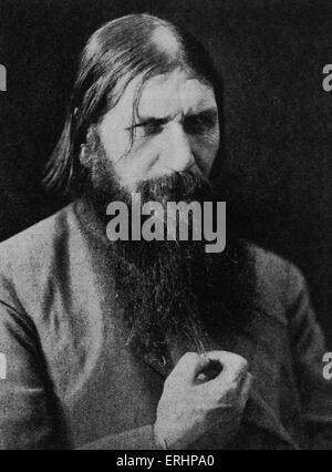 Grigori Rasputin - russischen Mystiker mit letzten Zaren von Russland beteiligt: 22. Januar 1869 - 19. Dezember - Stockfoto