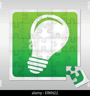 Vektor-Illustration der Glühbirne-Puzzle-Idee-Konzept - Stockfoto