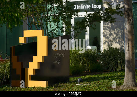 Apple Inc. Campus und Sitz, Cupertino CA - Stockfoto