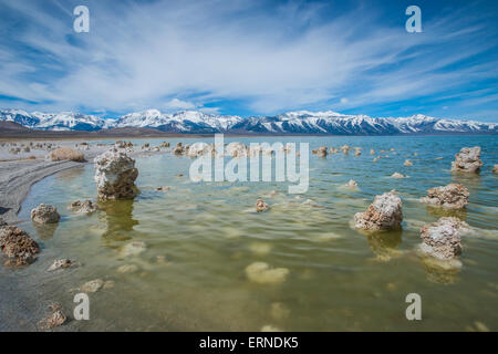 Küstenlinie Felsformationen im kalifornischen Mono Lake - Stockfoto