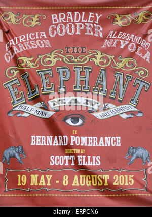 Elefantenmensch, starrte Bradley Cooper Poster - Stockfoto