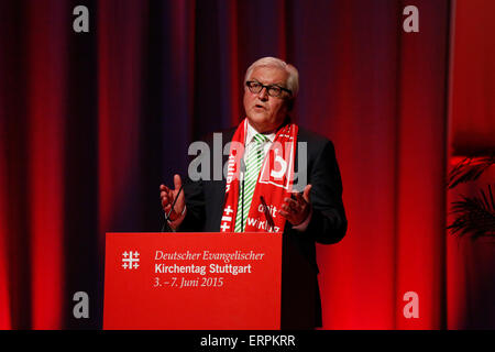 Stuttgart, Deutschland. 6. Juni 2015. Frank-Walter Steinmeier, Bundesminister für auswärtige Angelegenheiten, spricht - Stockfoto