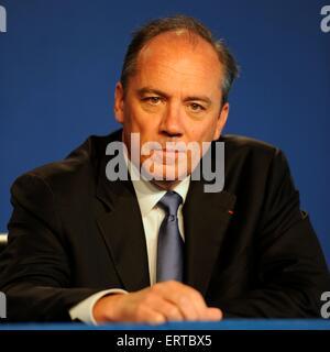 Stéphane Richard CEO von France Telecom und Orange, während einer Pressekonferenz auf der 37. G8-Gipfel 26. Mai - Stockfoto