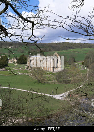 Dh Bolton Abbey WHARFEDALE NORTH YORKSHIRE Bolton Priory Wharfedale Ruinen der Abtei Yorkshire Dales england Herbst - Stockfoto