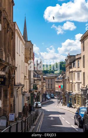 Broad Street in Bath Somerset England Großbritannien - Stockfoto