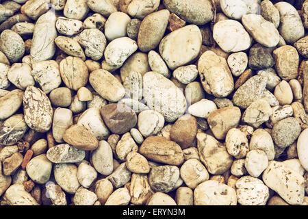 Hintergrund der glatten Steinen. Getönten Effekt. - Stockfoto