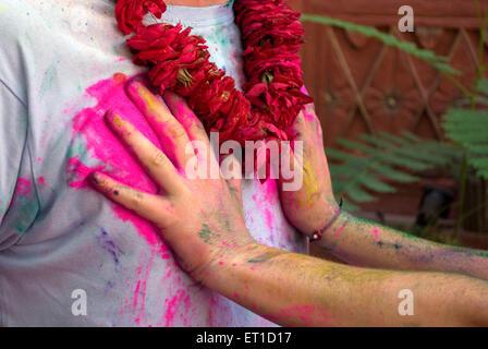 Holi-Fest; Jodhpur; Rajasthan; Indien - Stockfoto