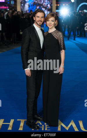 Nachts im Museum: Geheimnis des Grabes - UK-Film-Premiere im Empire Leicester Square statt.  Mitwirkende: Dan Stevens, - Stockfoto