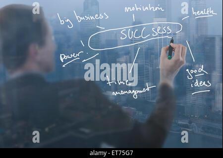 Unternehmer geben Präsentation, Bayern, Deutschland - Stockfoto