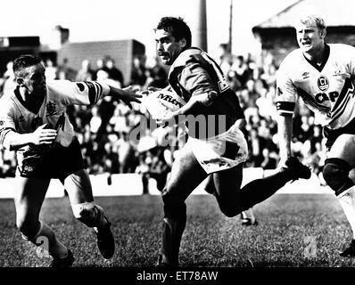 Wides 12-24 Bradford Northern Rugby Spiel. 21. September 1992. - Stockfoto