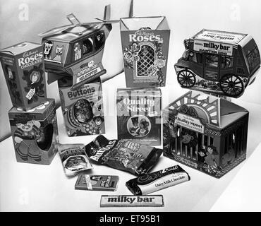 Auswahl von Ostereiern, 4. März 1978. - Stockfoto