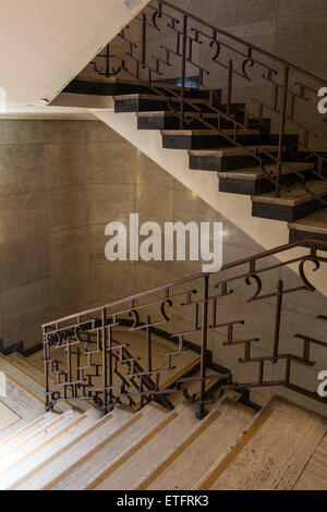 Beautiful ... Art Deco Treppe, Hornsey Town Hall, London   Stockfoto