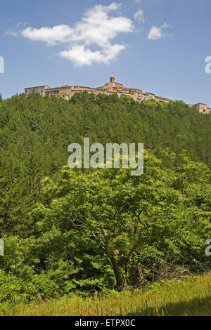Europa, Italien, Toskana, Monticello Amiata Dorf - Stockfoto