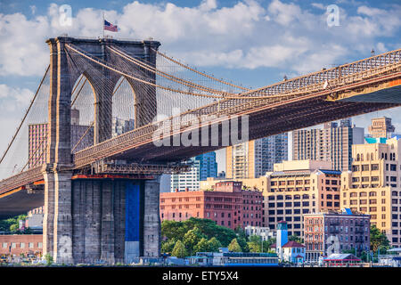 Brooklyn Brücke in New York City. Stockfoto