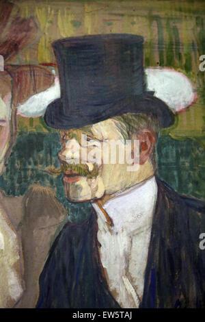 Henri de Toulouse-Lautrec (1864-1901). Der Engländer (William Tom Warrener, 1861-1934) im Moulin Rouge, 1892. Öl - Stockfoto