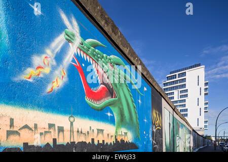 Berlin Wall, East Side Gallery, Berlin, Deutschland - Stockfoto