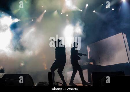 Barcelona, Katalonien, Spanien. 19. Juni 2015. Ein$ AP Rocky (US), Liveshow auf Sonar bei Nacht, SonarClub, Sonar - Stockfoto