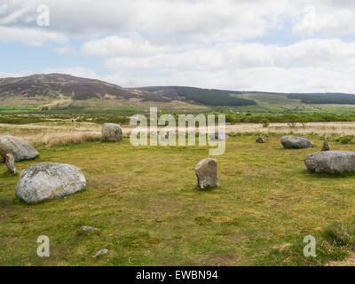 Machrie Moor Steinkreis Fingal Kessel Sitz Isle of Arran Schottland bekannteste archäologische Website auf Arran - Stockfoto