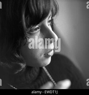 Griechisch deutsche Sängerin Vicky Leandros in Hamburg, Deutschland 1960er Jahre. Griechisch-deutsche Sängerin Vicky - Stockfoto