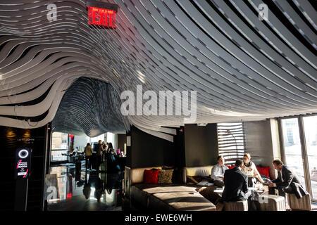 New York City NY NYC Manhattan geringeren finanziellen Bezirk W Downtown Hotel Lobby Design - Stockfoto